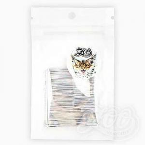 1355 Фольга переводная Северное сияние 4*50 см Голография серебро полоски, шт