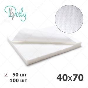 Doily полотенца 40*70 нарезанные, СЕТКА белые, 50 шт/уп