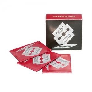 MERKEL Лезвия для педикюра с платиновым покрытием 10 шт