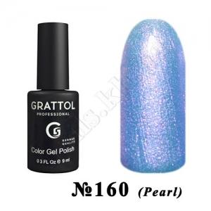 160 - Grattol Color Gel Polish  Azure PEARL, 9 ml