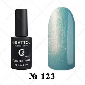 123 - Grattol Color Gel Polish  Blue Pearl, 9ml