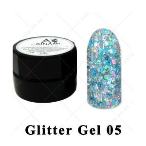 005 - Akinami  Glitter Gel, 5ml