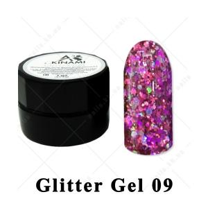 009 - Akinami  Glitter Gel, 5ml