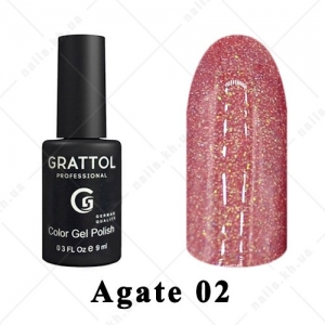 002 - Grattol Color Gel Polish LS  Agate, 9ml