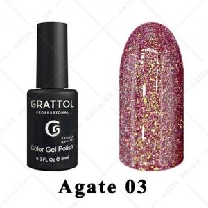 003 - Grattol Color Gel Polish LS  Agate, 9ml