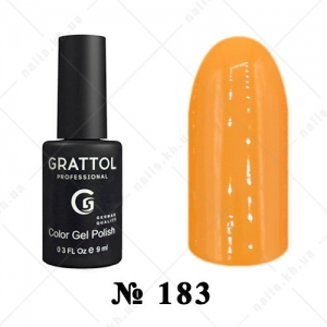 183 - Grattol Color Gel Polish  AUTUMN Yellow Orange, 9ml