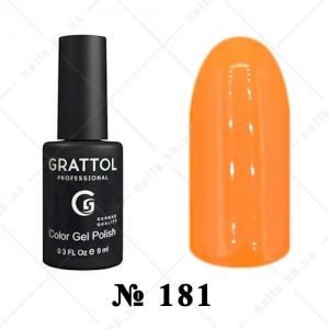 181 - Grattol Color Gel Polish  AUTUMN Saffron, 9ml