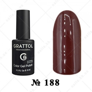 188 - Grattol Color Gel Polish  AUTUMN Mahagon, 9ml