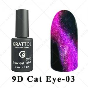 003 - Grattol Color Gel Polish  9D Cat Eye, 9ml