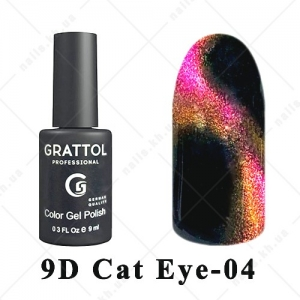 004 - Grattol Color Gel Polish  9D Cat Eye, 9ml