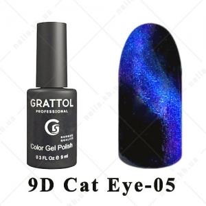 005 - Grattol Color Gel Polish  9D Cat Eye, 9ml
