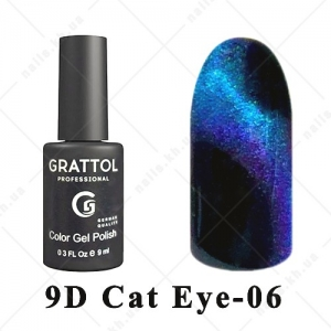 006 - Grattol Color Gel Polish  9D Cat Eye, 9ml