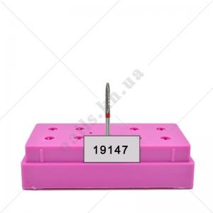 21123 Фреза ТВС конус тонкий красный