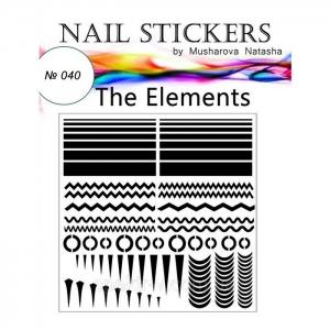 №040 Трафареты-наклейки для Nail Art, элементы