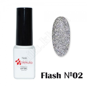 Molekula гель-лак светоотражающий Flash Effect F02, 6 ml