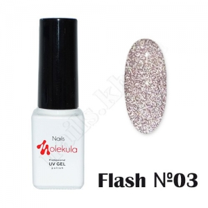 Molekula гель-лак светоотражающий Flash Effect F03, 6 ml