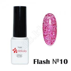 Molekula гель-лак светоотражающий Flash Effect F10, 6 ml