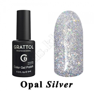 Grattol Color Gel Polish OS  Opal New SILVER, 9ml