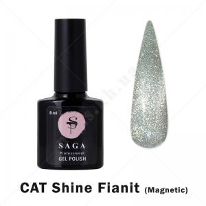 Saga Cat Shine Fianit Гель-лак кошачий глаз с хрустальным бликом - фианит, 8мл