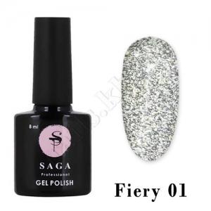 SAGA Гель-лак светоотражающий Fiery № 01, 8 мл