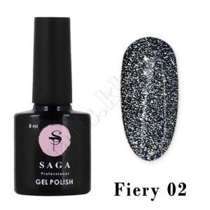 SAGA Гель-лак светоотражающий Fiery № 02, 8 мл