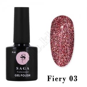 SAGA Гель-лак светоотражающий Fiery № 03, 8 мл