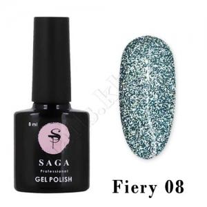 SAGA Гель-лак светоотражающий Fiery № 08, 8 мл