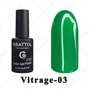 003 - Grattol Color Gel Polish Vitrage, 9ml