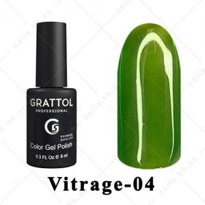004 - Grattol Color Gel Polish Vitrage, 9ml