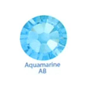 Стразы Swarovski цветные Aquamarine AB SS5, 100шт