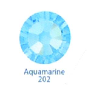 Стразы Swarovski цветные Aquamarine SS3, 100 шт