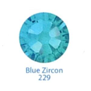 Стразы Swarovski цветные Blue Zircon SS3, 100 шт
