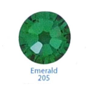 Стразы Swarovski цветные Emerald SS3, 100 шт