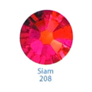 Стразы Swarovski цветные Siam SS3, 100 шт