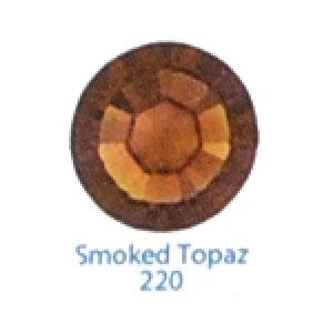 Стразы Swarovski цветные Smoked Topaz SS3, 100 шт