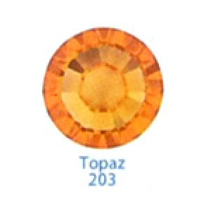 Стразы Swarovski цветные Topaz SS5, 100 шт