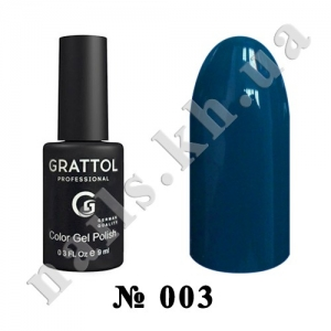 003 - Grattol Color Gel Polish  Blue, 9ml