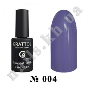 -004 - Grattol Color Gel Polish  Grey Violet, 9ml