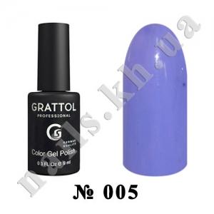-005 - Grattol Color Gel Polish  Cornflower, 9ml