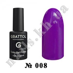 008 - Grattol Color Gel Polish  Purple, 9ml