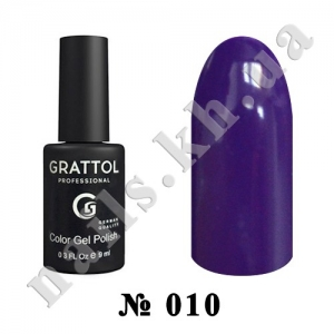 -010 - Grattol Color Gel Polish  Eggplant, 9ml