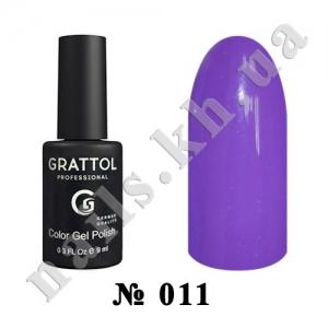 011 - Grattol Color Gel Polish  Royal Purple, 9ml