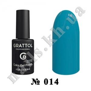 014 - Grattol Color Gel Polish  Sky Blue, 9ml