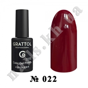 022 - Grattol Color Gel Polish  Garnet, 9ml