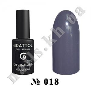 018 - Grattol Color Gel Polish  Grey, 9ml