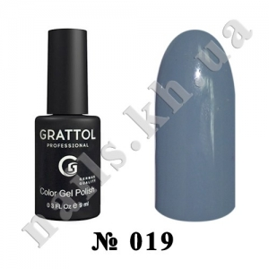019 - Grattol Color Gel Polish  Pastel Grey, 9ml