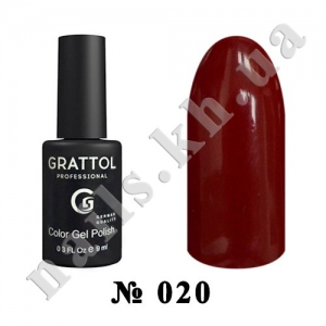 020 - Grattol Color Gel Polish  Red Ruby, 9ml