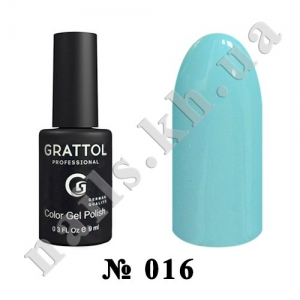 016 - Grattol Color Gel Polish  Pastel Blue, 9ml