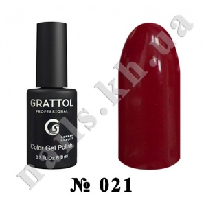 021 - Grattol Color Gel Polish  Red Wine, 9ml