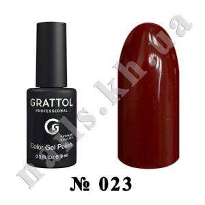 023 - Grattol Color Gel Polish  Red Brown, 9ml